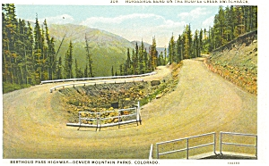 Switchback Hoopes Creek CO Postcard p5109 (Image1)
