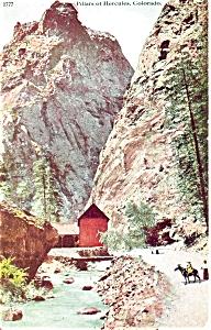 Pillars of  Hercules Colorado Postcard p5116 1911 (Image1)