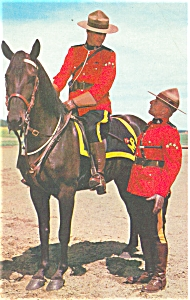 RCMP Mounted Poilce Canada Postcard (Image1)