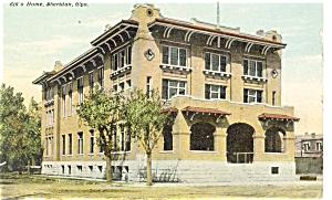Sheridan Wyoming Elks Home Postcard p5138 (Image1)