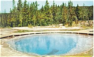 Morning Glory Pool Yellowstone  WY Postcard p5143 (Image1)