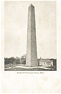 Bunker Hill Monument Boston MA Postcard p5149 (Image1)