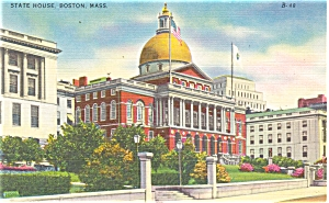 State House in Boston MA Postcard p5156 (Image1)