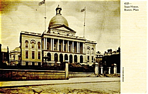 State House in Boston MA Postcard p5158 (Image1)
