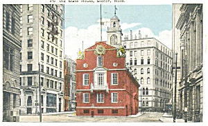Old State House in Boston MA Postcard p5159 (Image1)