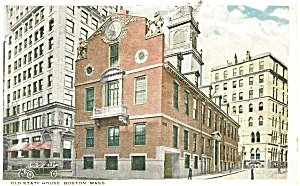 The Old State House in Boston MA Postcard p5160 (Image1)