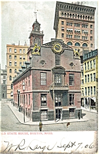 Old State House in Boston MA Postcard p5161 1910 (Image1)