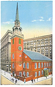 Old South Church in Boston MA Postcard p5172 1936 (Image1)