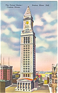 Custom House Boston MA Postcard p5197 (Image1)