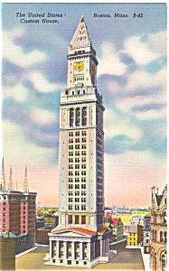 Custom House Boston MA Postcard p5197 (Image1)