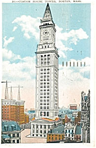 Custom House Tower Boston MA Postcard p5198 (Image1)