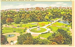 Public Gardens Boston MA Postcard p5203 (Image1)