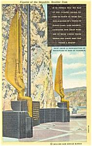 Boulder Dam Figures of the Republic Postcard p5281 (Image1)