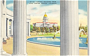 Denver Colorado The Capitol Building Postcard p5294 (Image1)
