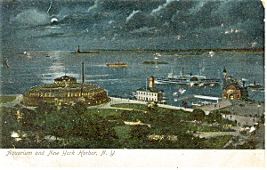 New York City Aquarium Harbor Postcard (Image1)