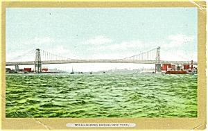 New York City Williamsburg Bridge Postcard p5320 (Image1)