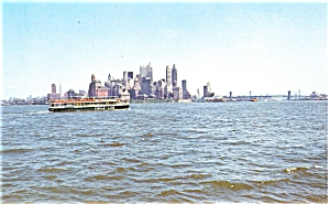 New York City Circle Line Cruises Advert.ising Card p5323 (Image1)