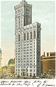 New York City Times Building Postcard p5326 1906 (Image1)