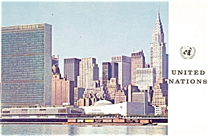 United Nations Headquarters North View Postcard (Image1)