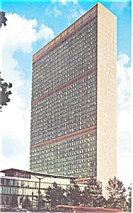 United Nations Headquarters Building Postcard (Image1)