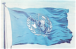 United Nations Flag Postcard (Image1)