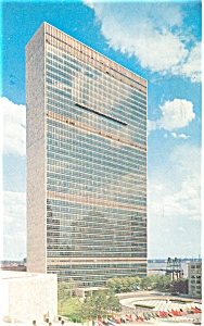United Nations Headquarters Postcard 1963 (Image1)