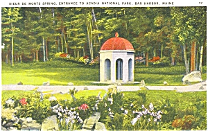 Bar Harbor ME  Acadia National Park Postcard (Image1)