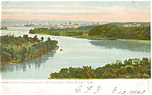 Holyoke Ma And Connecticut River Postcard P5421