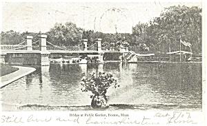 Boston MA Bridge at Public Library Postcard p5422 (Image1)