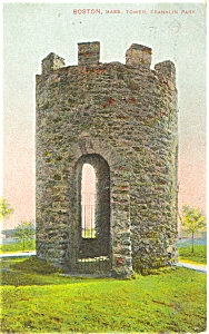 Boston MA The Tower in Franklin Park Postcard p5427 (Image1)