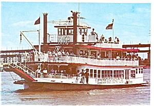 St Louis MO MV Huck Finn Postcard p5450 (Image1)