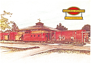 Victoria Station Restaurant Postcard (Image1)