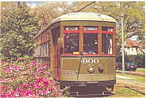 New Orleans LA Streetcar Postcard p5464 (Image1)