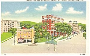 Hot Springs National Park AR Street Scene Postcard p5470 (Image1)