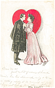 Vintage Valentines Day Postcard 1907 (Image1)