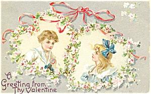 Vintage Valentines Day Tuck's Postcard (Image1)