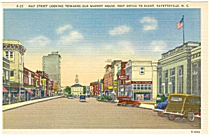 Fayetteville NC May Street Postcard p5475 (Image1)