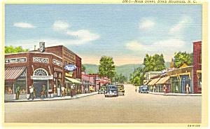 Black Mountain NC Main Street Postcard p5476 (Image1)