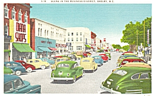 Shelby NC Business District Postcard p5477 (Image1)