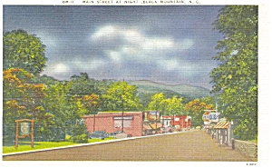 Black Mountain NC Main St At Night Postcard p5478 (Image1)