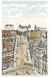 Albany NY State Street Vintage Postcard p5483 (Image1)