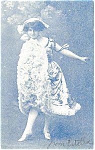 Victorian Young Girl  Postcard 1907 (Image1)