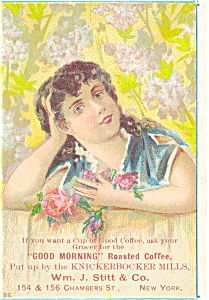 Victorian Trade Card Good Morning Coffee (Image1)