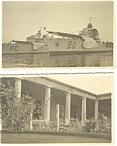 Lot of Two Miniture Postcards Navy Ships p5779 (Image1)