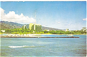 Hilton Hawaiian Village Waikiki Beach Postcard P5815