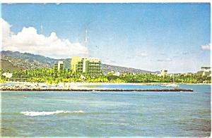 Hilton Hawaiian Village Waikiki Beach Postcard p5815 (Image1)