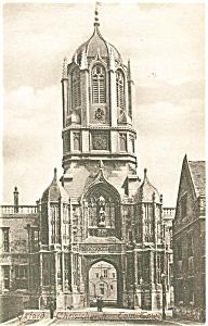 Oxford Christchurch Tom Towe Postcard p5827 (Image1)