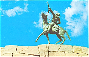 Cody Wyoming Buffalo Bill Statue Postcard P5854
