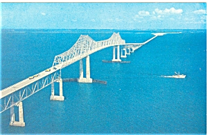 Old Sunshine Skyway Bridge Tampa Bay Fl P5858