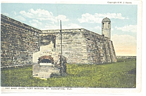 Fort Marion Florida Hot Shot Oven Postcard P5870